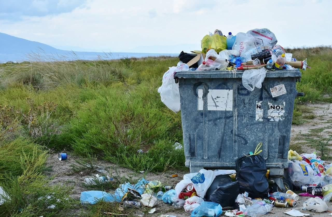 garbage, waste container, waste